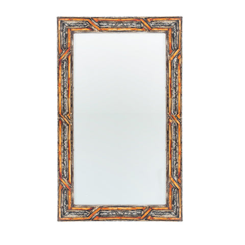 Alpaka and Camel Bone Mirror