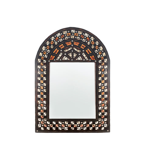 Camel Bone Arch Checkerboard Mirror