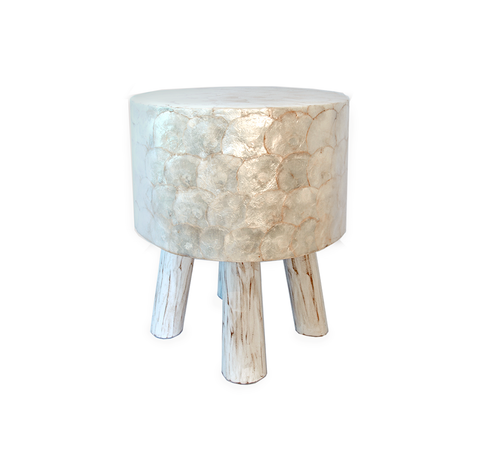 Capiz Shell Stool