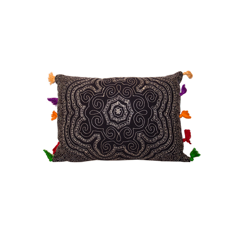 Mandala Cushion with Tassles