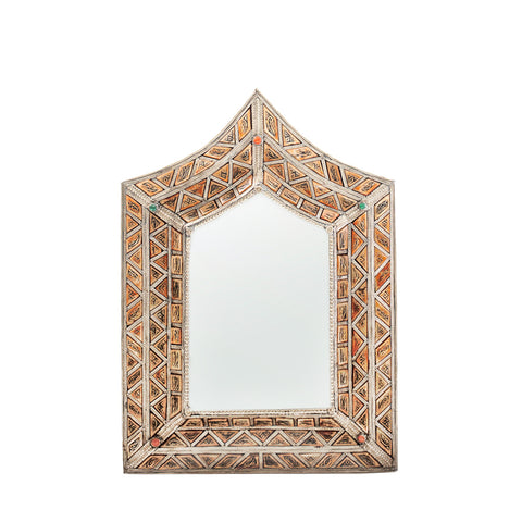 Bevilled Camel Bone Mirror