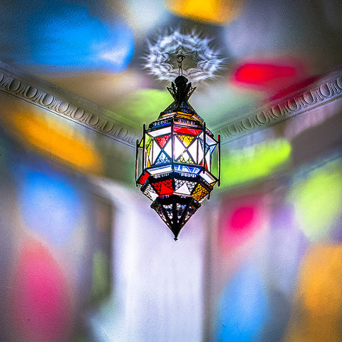 Cross Lantern With Frosted Glass