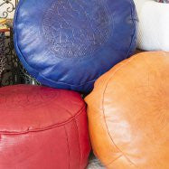 Embossed Ottomans