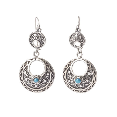 Filigree and Turquoise Earrings