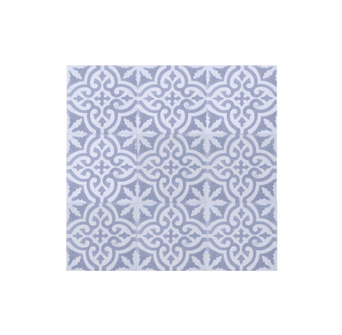 Encaustic Tile- Grey Arabesque