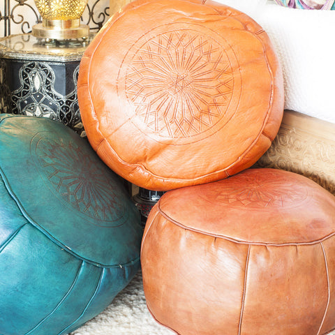 Embossed Ottomans Small