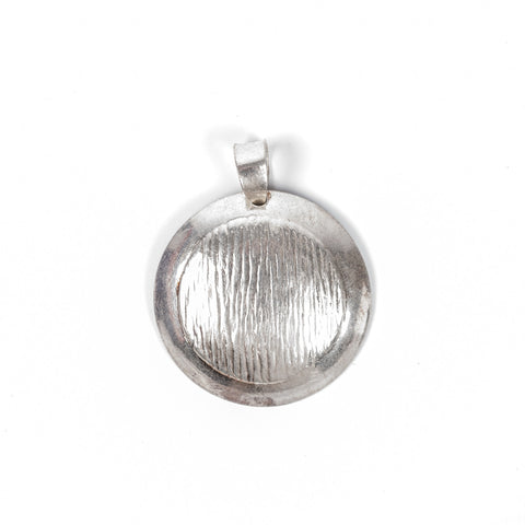 Brushed Silver Pendant