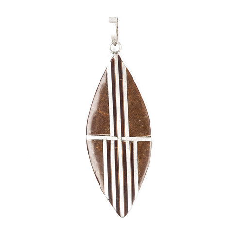 Cedar Wood Surfer Pendant