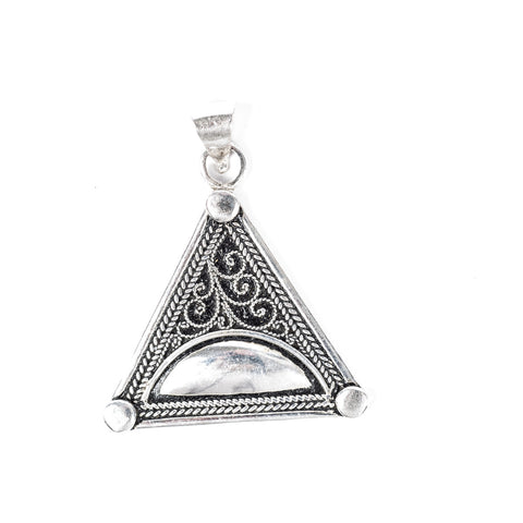 Black Enamel Triangle Pendant