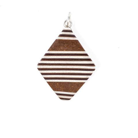Cedar Wood Diamond Pendant