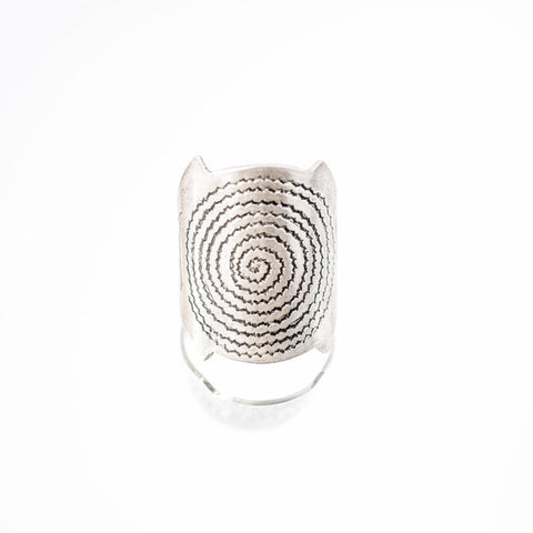 Hand Etched Spiral Ring