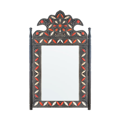 Tribal Mirror with Filigree and Camel Bone