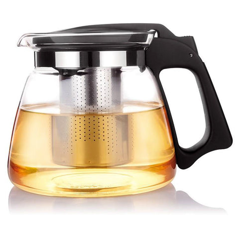 1100ml Heat Resistant Glass Teapot With Stainless Steel Strainer