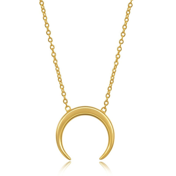 'Killing Moon' Gold Crescent Moon necklace