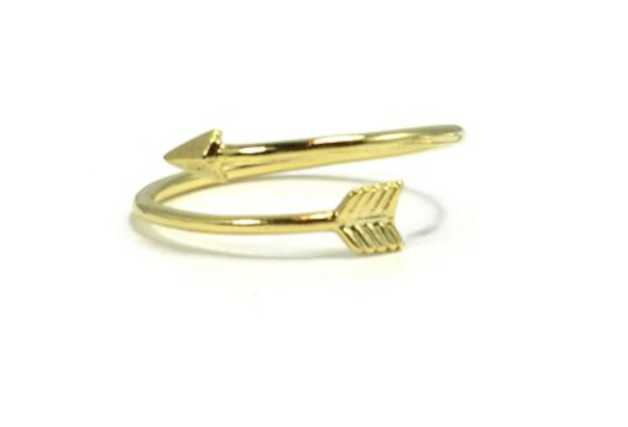 'Arizona' Gold Arrow Ring - Lubie Paris