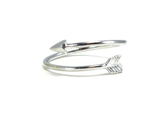 'Arizona' Silver Arrow Ring - Lubie Paris