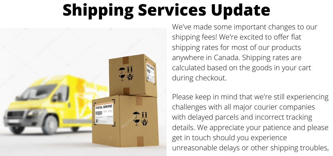 Diatomaceous Earth Canada now offers flat rate shipping for most products! Shipping fees are calculated based on the products in your cart during checkout!