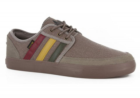 NEW ADIDAS ORIGINALS SEELEY BOAT HEMP Shoes Brown Rasta Red