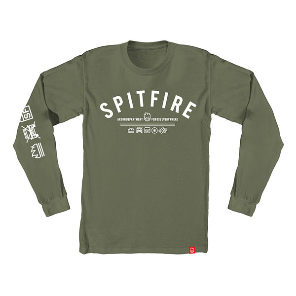 Spitfire - Burn Division LS Tee (Mountain Green/White)