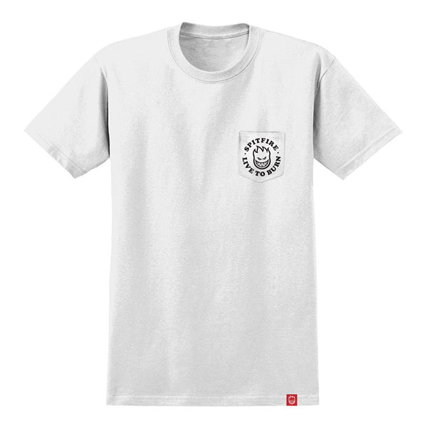 Spitfire - Bighead LTB Pocket Tee (White/Black)
