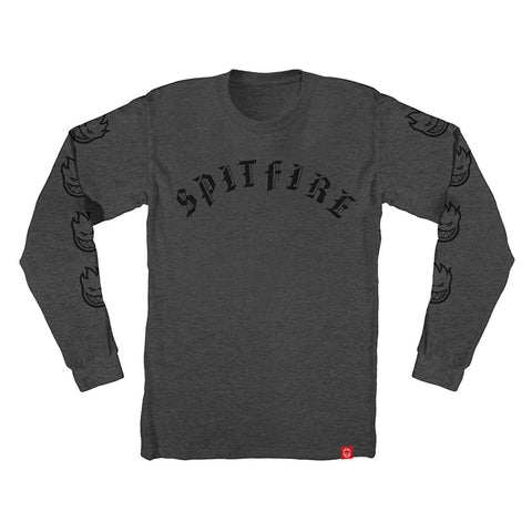 Spitfire - Old E LS Tee (Charcoal Heather)