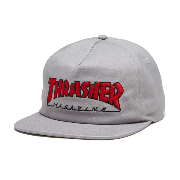 Thrasher - Outlined Snapback (Grey/Red)