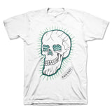Face Ooze - Green Skull Tee (White)