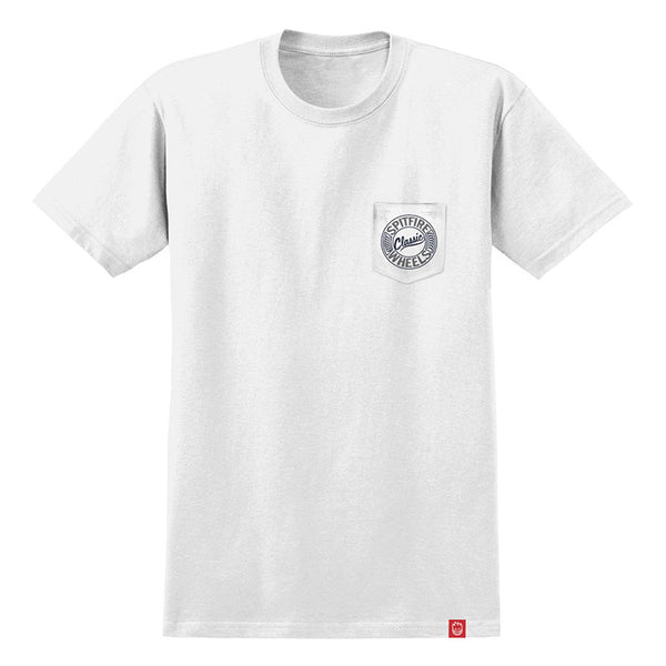 Spitfire - Flying Classic Pocket Tee (White/Grey)