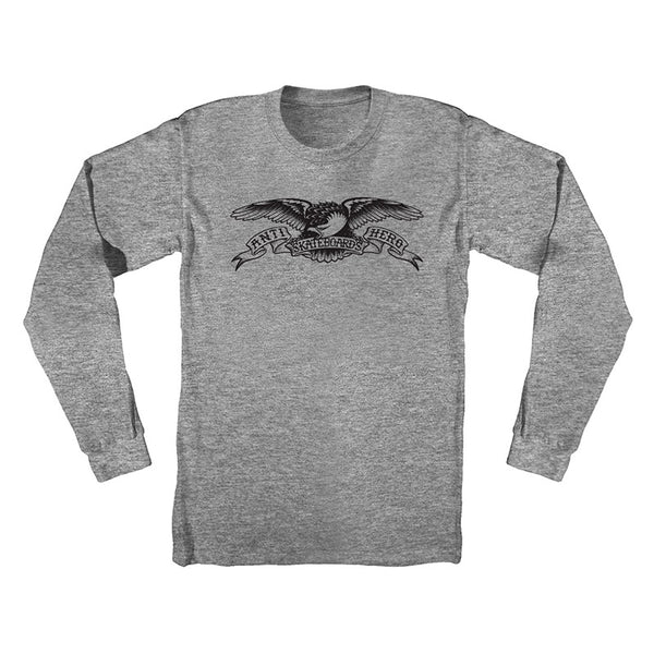 Anti Hero - Basic Eagle LS Tee (Athletic Heather/Black)