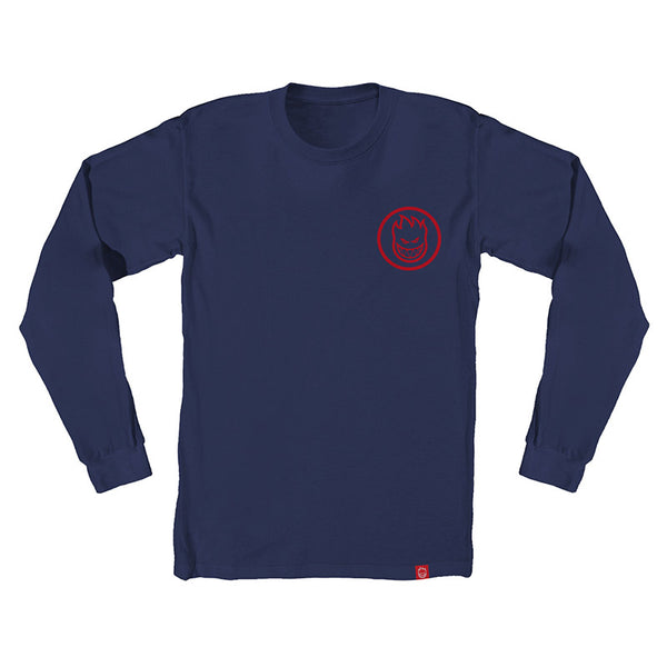 Spitfire - Classic Swirl LS Tee (Navy/Red)