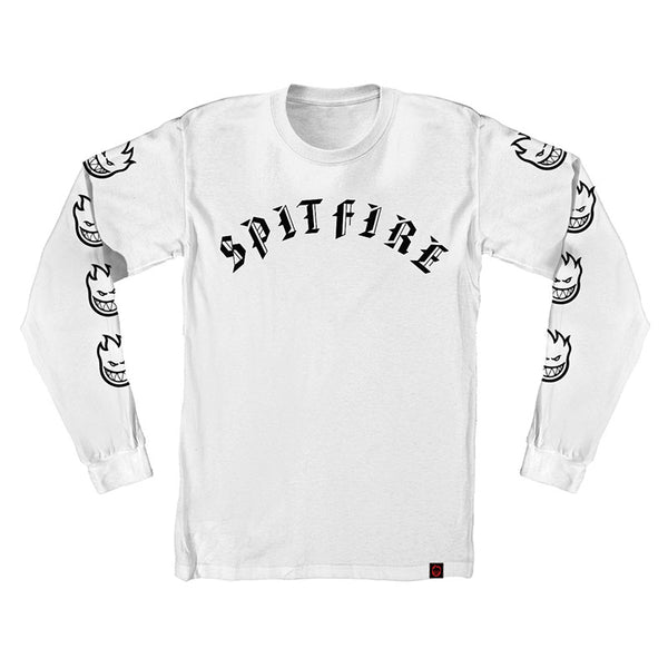 Spitfire - Old E LS Tee (Silver/Black/White)