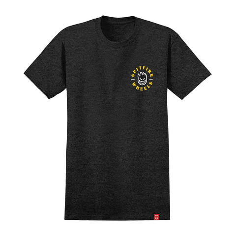 Spitfire - Bighead Classic Tee (Charcoal Heather/Yellow)