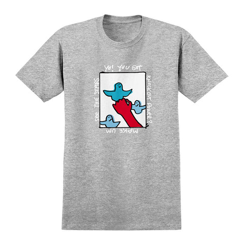 Krooked - Knockout Power Tee (Athletic Heather)