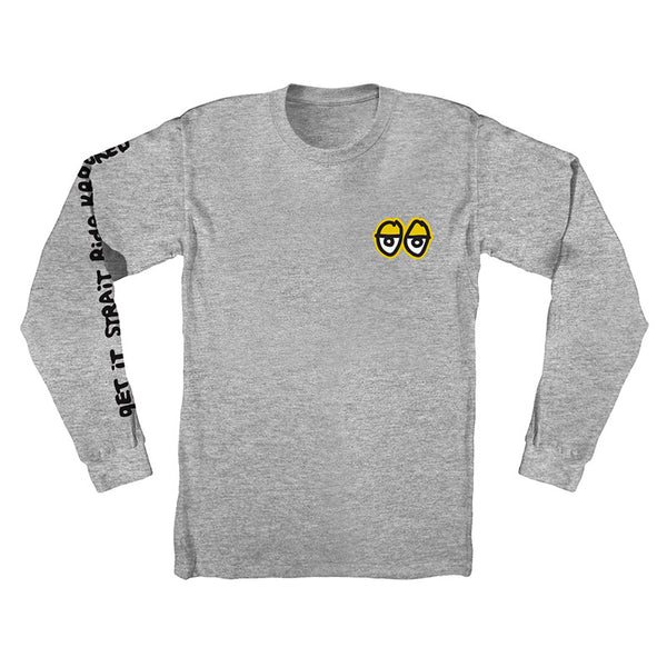 Krooked - Stock Straight Eyes LS Tee (Athletic Heather)