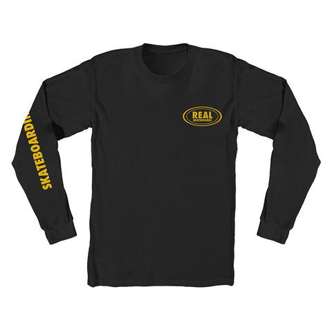 Real - Vs Everyone Oval LS Tee (Black/Yellow)