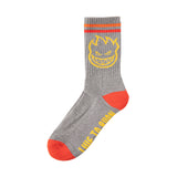 Spitfire - Bighead Calf Sock (Heather Grey/Yellow/Red)