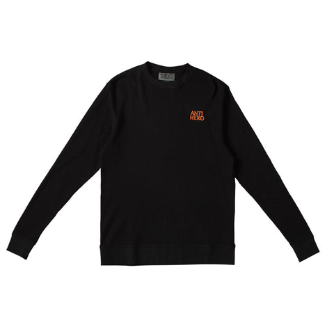 Anti Hero - Lil Blockhero Embroidered Waffle Crew (Black)