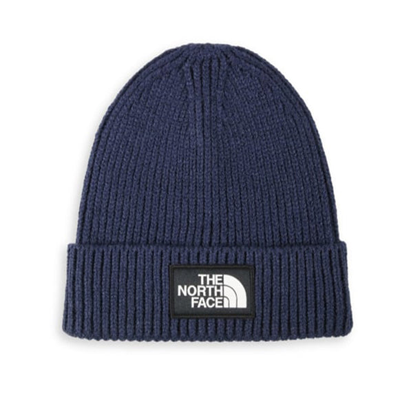 The North Face - Logo Box Cuffed Beanie (Navy)
