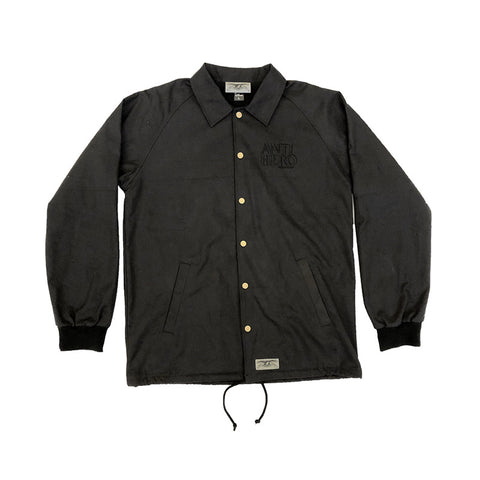 Anti Hero - Lil Block Hero Embroidered Jacket (Black)