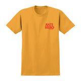 Anti Hero - Lil Black Hero Tee (Gold/Red)