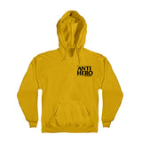 Anti Hero - Lil Block Hero Embroidered Hood (Gold/Black)