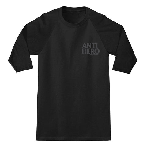 Anti Hero - Lil Black Hero Raglan (Black/Reflective)