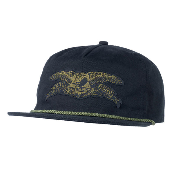 Anti Hero - Stock Eagle Patch Snapback (Black)