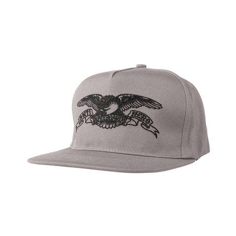 Anti Hero - Basic Eagle Embroidered Snapback (Grey/Black)