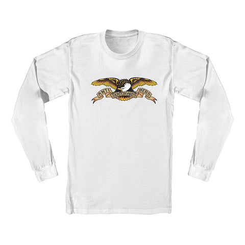 Anti Hero - Eagle LS Tee (White)