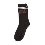 Anti Hero - Block Hero If Found Sock (Black/Brown)