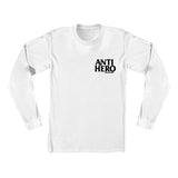 Anti Hero - Lil Black Hero LS Tee (White/Black)