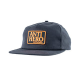 Anti Hero - Reserve Patch Snapback (Charcoal/Orange)