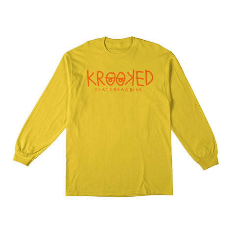 Krooked - Krooked Eyes LS Tee (Yellow/Orange)