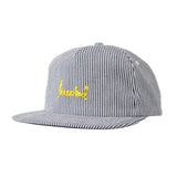 Krooked - Skript Striped Snapback (Indigo)